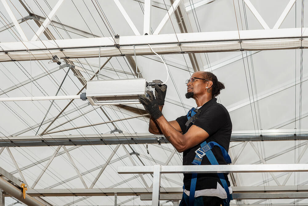 Installation of Monarch fixtures in sustainable 'Clima Greenhouse' From Boer completed
