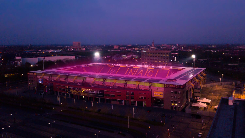 Oreon doet onderzoek naar LED-lichtrecept stadiongras NAC Breda