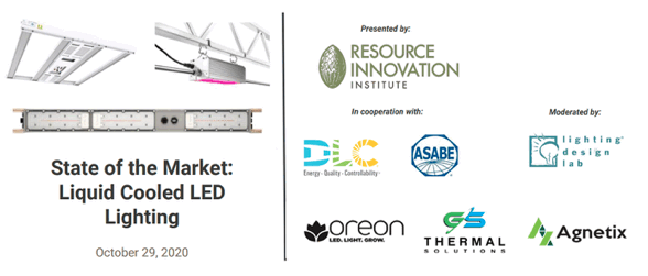 Oreon participates in 'Liquid cooled LED lighting workshop' by the Resource Innovation Institute